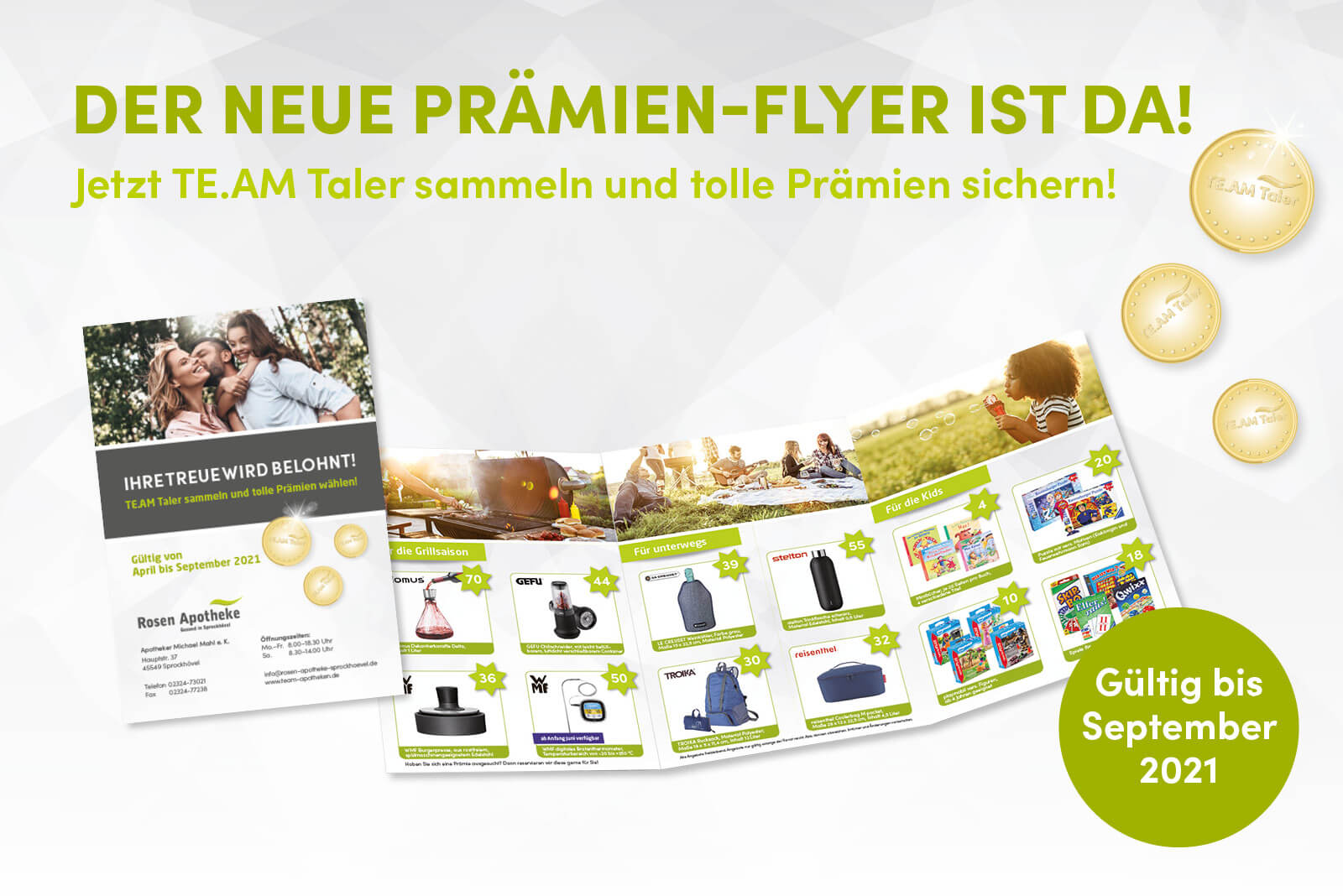Prämien-Flyer April-September 2021 Rosen Apotheke